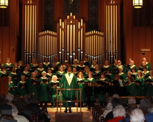 Singing at the amazing Christ Church Episcopal