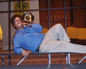 Phil Sams . . . a trombone pin-up